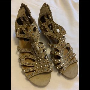 Studded Suede Sandals